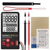 BSIDE 9999カウントスマートマルチメータTrue RMSデジタルマルチメータLCDディスプレイでAC / DC電圧抵抗周波数を測定DC / AC電圧計抵抗容量ダイオードテスター連続性Vを測定〜アラートおよびライブワイヤチェック