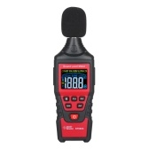 SMART SENSOR ST6824 Digital Decibel Meter LCD Color Screen Handheld Noise Sound Level Meter with Tool Bag Range from 30-130dB(A Weighted) for School Classroom Kids(Battery Not Included)