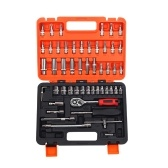 53pcs Multifunctional Professional Steel Socket Wrench Tool Set Car Repairing Toolbox Automobile and Motorcycle Sleeve Socket Spanner Tools Kit