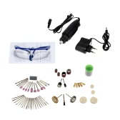 Multi-funzione professionale elettrico Set 110-240V AC trapano smerigliatrice utensile di molatura per fresatura foratura taglio incisione Kit con 86pcs accessori di lucidatura