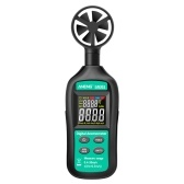 ANENG Handheld Digital Anemometer High Precision Wind Speed/Temperature Meter Digital Meteorograph with LCD Backlight