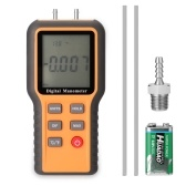 Цифровой манометр ЖК-дисплей ℃ ℉ Переключаемые 12 единиц давления Регулируемый инструмент для измерения температуры в помещении Трубы Устройство для измерения давления