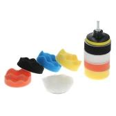 """11PCS Brand New 3"""" 80mm Car Polishing Pads Waxing Foam Buffing Pad Sponge Kit Set for Car Polisher Buffer Waxer Sander Polishing   Waxing Sealing Glaze Including 8 Polishing Pads + 1 Woolen Buffer + 1 Adhesive Backer Pad with Shank"""