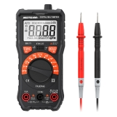 Meterk 2000 Counts Digital Multimeter True RMS Multi-functional Auto Ranging Non Contact Voltage Multi Meter DMM Voltmeter Ohmmeter Measuring AC/DC Voltage Current Resistance Capacitance Frequency Temperature Diode Continuity Test hFE NCV Tester with Backlight LCD and Flashlight