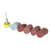 "100PCS 25mm 1"" Sander Disc Sanding Disk 100-3000 Grit Paper with 1inch Abrasive Polish Pad Plate + 1/8"" Shank for Dremel Rotary Tool"