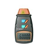 Tacómetro digital de fotos portátil Tacómetro láser sin contacto 2.5RPM-99,999RPM Medidor LCD de velocidad del motor con cinta reflectante 3 piezas