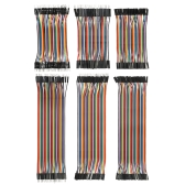 240pcs Breadboard Jumper Wires Ribbon Cables Kit Multicolorido 80 Pin M / M + 80 Pin M / F + 80 Pin F / F (10cm / 20cm)