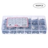 900pcs 18 Value Bipolar Triode Transistor TO-92 Box Kit A1015-2N5551 DIY LED Kit