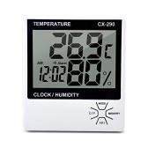 Внутренний термометр Датчик влажности ЖК-дисплей Цифровой термометр Гигрометр Комната ℃ / ℉ Измеритель температуры и влажности Датчик Будильник Термогигрометр с памятью MAX / MIN