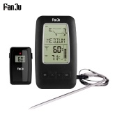FanJu FJ2245 Digital Cooking Grill Thermometer with Wireless Remote Magnetic Back Stainless Steel Temperature Probe for Kitchen Smoker Grill BBQ Food Meat Thermometer