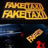 Vinile autoadesivo autoadesivo divertente 2pcs falso TAXI auto adesivo FakeTaxi Decal Emblem
