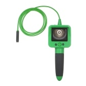 Household Endoscope 2.4-inch LCD Digital Industrial Borescope Micro Inspection Camera Waterproof Lens and Flexible Cable for Vehicle Air Conditioner Repairing