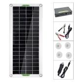 30 Вт поликристаллическая солнечная панель Гибкая солнечная панель для кемпинга Автомобиль Путешествия Открытый аксессуар для аварийного питания