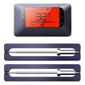 BT 5.0 BBQ Thermometer BBQ Intelligent Wireless Thermometer Baking Oven Thermometer LCD Digital Thermometer