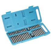 """40pcs Chrome Vanadium Steel Torx Hex Spline Bits Sockets Set 1/2"""" & 3/8"""" Drive Repair Tools Kit with Storage Case"""