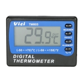 Vici Mini LCD Digital Thermometer Temperature Meter Celsius Fahrenheit Degree In Out Fridge Freezer Thermometer with Probe Max Min Value Display