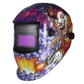Capacete de soldagem industrial Capacete de soldagem de escurecimento automático de energia solar TIG MIG Mask Grinding Joker Design