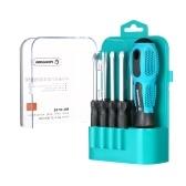 Penggong 9 pcs precisão chave de fenda set chave de fenda magnética ferramenta de reparo em casa kit substituível cabeça do parafuso entalhado phillips hex parafusos motoristas