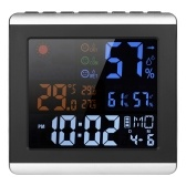 Indoor Digital Color Thermometer Hygrometer Clock