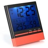 ЖК-цифровой закрытый термометр Hygrometer Room ℃ / ℉ Датчик температуры влажности измерительный термометр-гигрометр с подсветкой