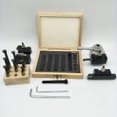 Petite taille Portable 19 Pcs Kit de support de poteau de changement rapide Barre ennuyeuse Outil de tournage pour support de tour miniature