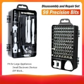 115 em 1 Magnetics Precision Chave De Fenda Set Fit Computador Pc Phone Repair Tool Set Kits