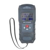Multifunktions-Stud Finder Wanddetektor Sensor Wandscanner mit großem LCD Digital Wood Center Auffinden von Metallstiften und AC-Kabel Live Wire Scanner Warnerkennung