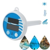 Solar Powered Digital Thermometer Wireless Pond Pool Floating LCD Display Swimming Pool Thermometer Solar Thermometer Floating Thermometer Bathroom Bathtub Thermometer