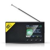 Protable 2.4 Inch LCD Display Screen DAB/DAB+ Digital Radio Broadcast FM Receiver Speaker BT Alarm Clock Digital Audio Broadcasting Music Data Broadcasting Outdoor