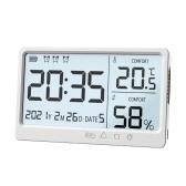 LCD電子温度湿度計電子高精度温度湿度計目覚まし時計
