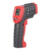 Meterk MK420 -50 ~ 420 ° C 12: 1 multifunzionale Mini portatile senza contatto digitale a cristalli liquidi Termometro a infrarossi IR tester di temperatura pirometro con retroilluminazione emissione regolabile
