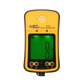SMART SENSOR Profesional H₂S y CO 2 en 1 Monitor de gas Industrial Digital Handheld Gas tóxico Detector de monóxido de carbono Oxido carbónico Probador de gas sulfuro de hidrógeno 0-999ppm con pantalla LCD Alarma de vibración de sonido y luz 100-240V