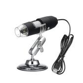 Lupa de microscopio con zoom digital USB con función OTG, endoscopio Lupa de luz con 8 LED, lupa 1000 veces con soporte