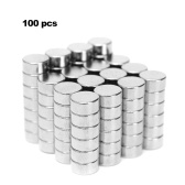 100Pcs Mini Size 6x3mm N50 Rare Earth Neodymium Magnety Strong-magnetic for Whiteboard Refrigerator DIY Crafts Science and Office Use