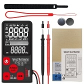 BSIDE 9999 Counts Smart Multimeter True RMS Digital Multimeter Measuring AC/DC Voltage Resistance Frequency with EBTN LCD Display DC/AC Voltage Meter Resistance Capacitance and Diode Tester