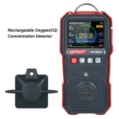 wintact High Precision Oxygen Meter Professional Portable Oxygen(O2) Concentration Detector with 120000 Data Logging LCD Display and Sound-light and Vibration Alarm