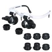 Lenti d'ingrandimento LED Lente d'ingrandimento con lente d'ingrandimento Lente intercambiabile 4 Lenti sostituibili 7X / 10X / 15X / 25X