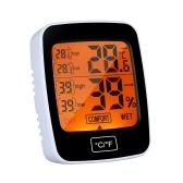 Medidor de umidade digital de temperatura Termômetro higrômetro ° C / ° F Termômetro higrômetro