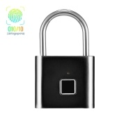 Smart Fingerprint Padlock Small Size Padlock Cabinet Fingerprint Lock Dormitory Anti-theft Lock O10/10 Black
