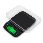 WH-B25 LCD High Definition Display LED Green Backlight Hand-made Coffee Electronic Scale Kitchen Scale Baking Scales with Bowl and Waterproof Heat-resistant Silicone Mat