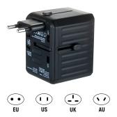 Adaptateur de voyage 4 USB dans le monde entier Adaptateur de voyage universel tout-en-un
