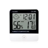 デジタル熱湿度計温度計湿度計室内室温湿度ゲージメーター目覚まし時計液晶ディスプレイ住宅オフィスホテル用