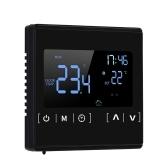 Termostato com tela sensível ao toque LCD inteligente para sistema de aquecimento elétrico programável de piso elétrico Termorregulador de aquecimento de água AC 85-250V Controlador de temperatura