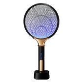 KKmoon Rechargeable Bug Zapper USB Photocatalyst Mosquito Killer Bat Household Mosquito Trap Swatter Hit Mosquito Lamp Rechargeable 2-in-1 Electric Mosquito Swatter