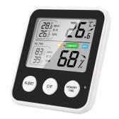 KKmoon 高精度磁気温度計 湿度計 液晶画面付きデジタル温湿度計 ℃/コンセントレート