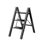 3-х ступенчатый складной табурет с противоскользящей широкой педалью 330 фунтов Многофункциональная лестница из алюминиевого сплава, полка для хранения, подставка для цветочного горшка