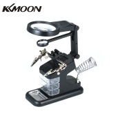 KKmoon TH7206 Multi-Functional Welding Magnifier 3X/4.5X/25X LED Light Desktop Magnifier USB Port Soldering Stand Repair Tool Magnifier