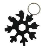 18 in 1 Snowflake Multi-tool Pocket Tool Spanner Hex Wrench Bottle Opener Multifunction Key Ring MultiTool Multipurpose Tool for Camping Outdoor Survival Hiking with Keyring