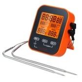 Termómetro digital para alimentos y temporizador Termómetro inalámbrico con sonda de temperatura para carne