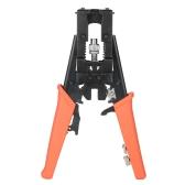 Conector de compressão coaxial multifuncional Cabo de ferramenta ajustável Alicates de crimpagem Cortador de fio para F BNC RCA RG58 RG59 RG6